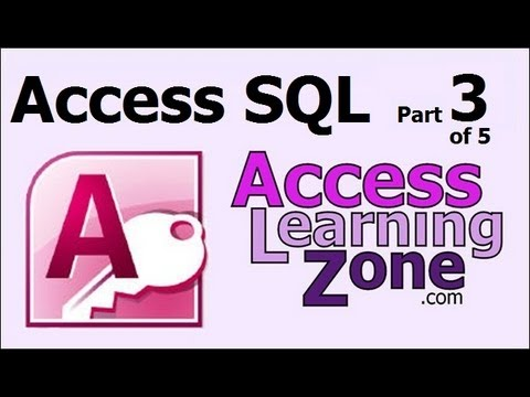 Microsoft Access SQL Part 3 of 5 - What is SQL