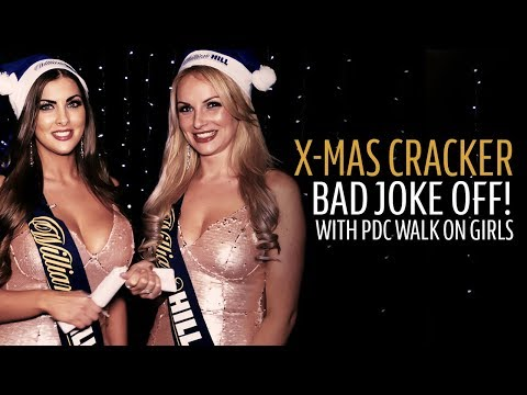 Christmas Cracker BAD JOKE OFF with PDC Walk On Girls | William Hill World Darts Championship 2018