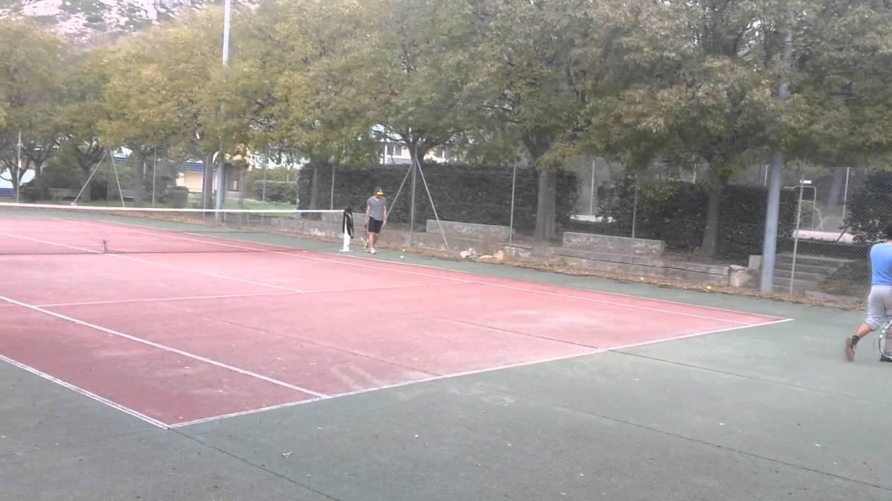 tennis alotra luminy marseille france youtube