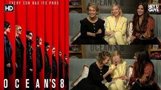 Oceans 8 - Sandra Bullock, Cate Blanchett & Sarah Paulson Interview