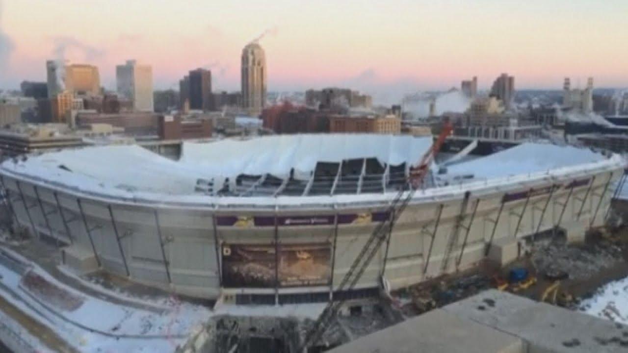 Stadium Demolition Explosives Set Off At Minnesota