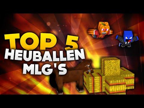 Minecraft - Top 5 Heuballen MLG's!   DieBuddiesZocken