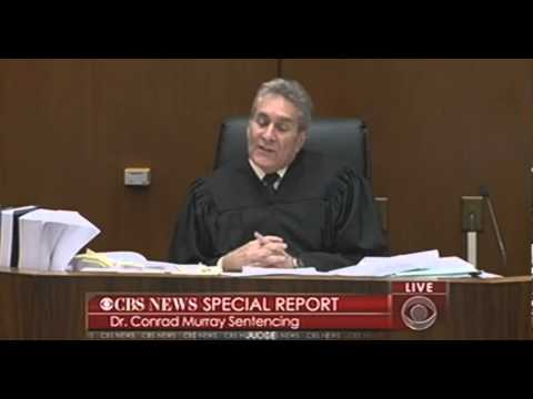 The Judge Sentences Conrad Murray Pt 2
