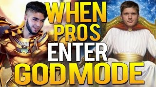 CS:GO - WHEN PRO PLAYERS ENTER GODMODE!(Crazy Vac shots, EPIC ACES)