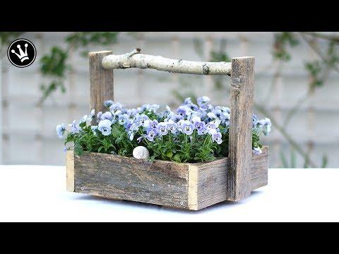 DIY - Kiste Mit Griff Aus Altem Holz Selber Machen   Upcycling   Geschenkidee Für Muttertag   How To