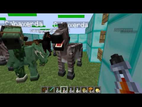Como hacer un caballo vaca pegaso unicornio En Minecraft 1.6.2 y 1.6.4 Mo Creatures