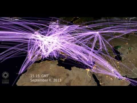 How Many Planes Are in the Sky? (Europe) | California Academy of Sciences