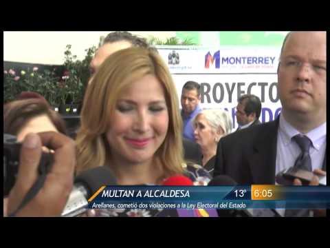 Las Noticias - Multan a la alcaldesa de Monterrey Margarita Arellanes