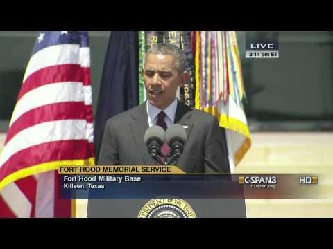 President Obama remarks at 2014 Fort Hood Memorial Service (C-SPAN)
