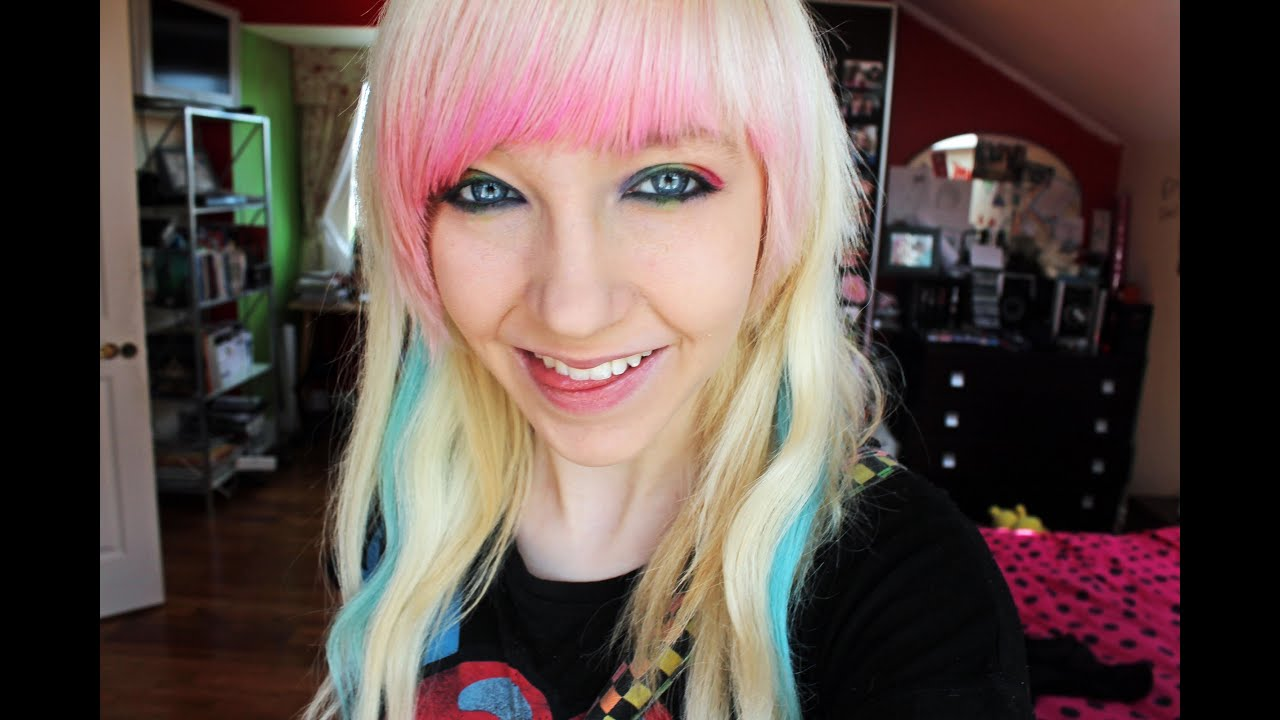 How To Dye The Underlayer Of Your Fringe Pink YouTube