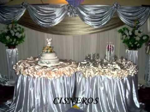 Decoraciones de fiestas de 15 a youtube for Decoracion de pared para quinceanera