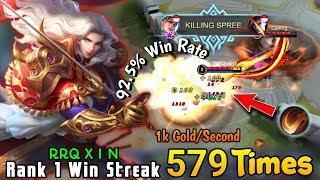 Lancelot RRQ XIN Mid Lane Pakai Meta Spell Execute??? - Rank 1 Win Streak 579times RRQ X I N