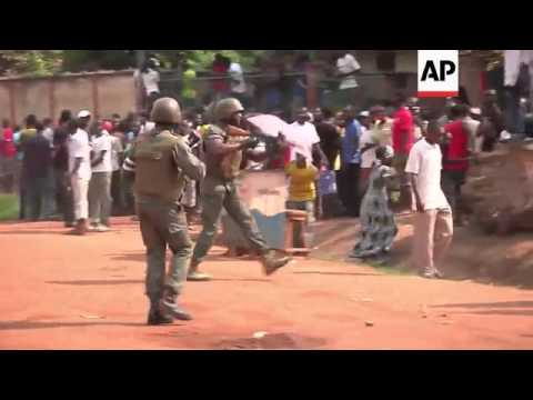 African peacekeepers fire in air to disperse angry mob trying to hunt down and kill Muslims