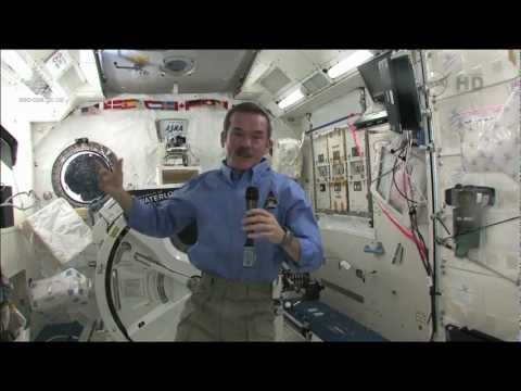 Hadfield comments on the asteroid flyby and ISS benefits