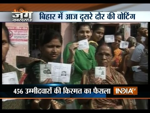 Voting Begins for Second Phase of Bihar Assembly Elections 2015 - India TV
