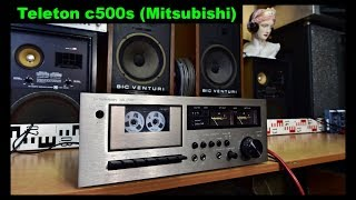 Teleton c500s Hi-Fi Cassette Deck - Mitsubishi Japan (EN)