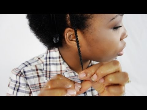 Two Strand Twist Out Step by Step Tutorial on Short 4c Natural Hair Part 2