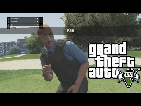GTA 5: Bad Cops Go Golfing ( Grand Theft Auto 5 Funny Moments)