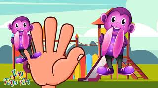 The Finger Family Monkey Family Nursery Rhyme | Kids Animation Rhymes Songs #1