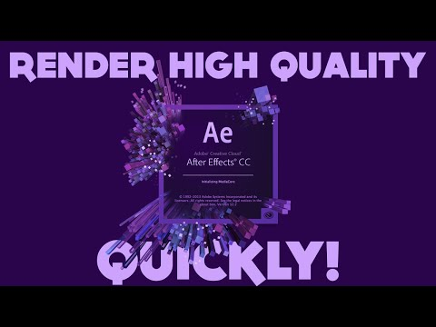 How to Render Fast High Quality After Effects Projects   Render 3x Faster!