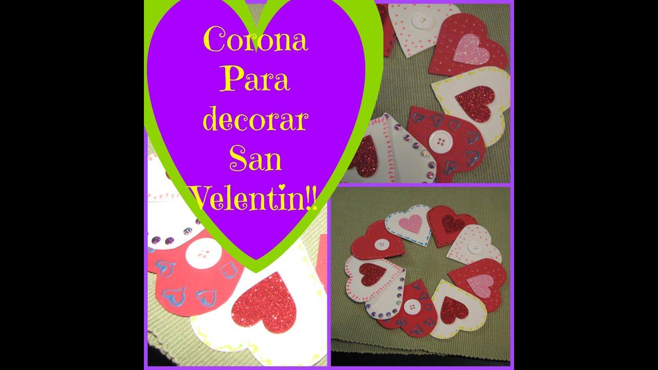 Manualidades faciles para san valentin corona de corazones for Decoracion de pared para san valentin