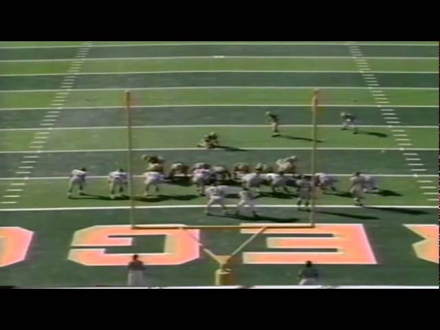 Oregon WR Anthony Jones 3 yard touchdown catch vs. NMSU 10-05-91
