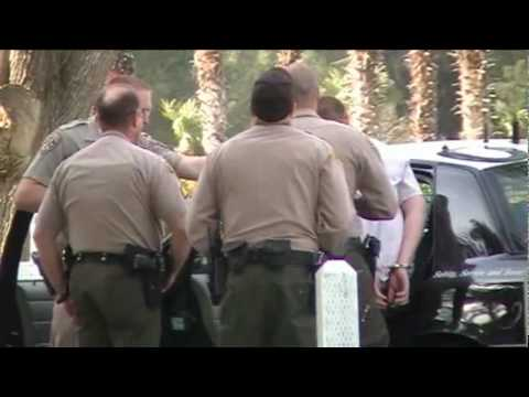 Los Angeles County Sheriff capture two armed suspects near Palmdale, CA