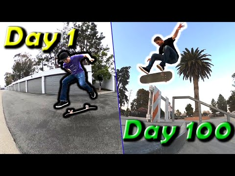 I Tried To KICKFLIP For 100 Days In A Row
