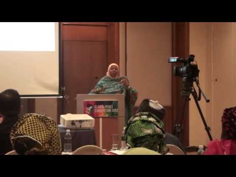 SPEECH WIFE OF VICE PRESIDENT NIGERIA AT GLOBAL PEACE CONVENTION 2013