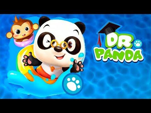 МАЛЫШ доктор панда в АКВАПАРКЕ Кошка плавает БАССЕЙНЕ мультики ИГРЫ для детей BABY PANDA GAMES