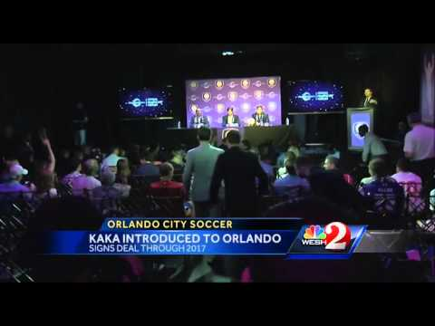 Orlando City introduces superstar Kaka to Central Florida