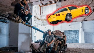 Abandoned NYC Warehouse Found Tank And Cars (Corvette) With Everything Inside