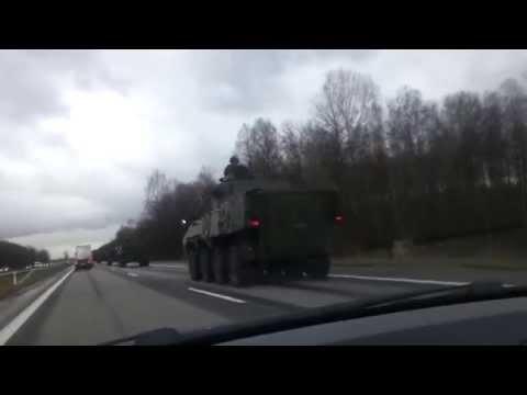 Skaitytojo video: šalia Kauno užfiksavau didelę koloną karinės technikos