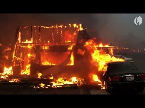 Scenes of Paradise, California wildfire that evacuated 27,000
