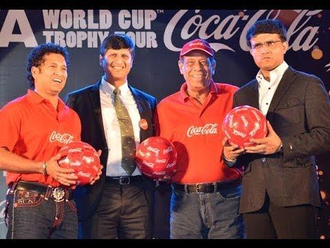 Sourav Ganguly welcome FIFA  World Cup trophy in Kolkata