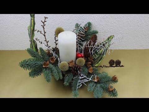 Weihnachtsdeko Adventsgesteck Fur Den 1 Advent 2017 Selber Machen