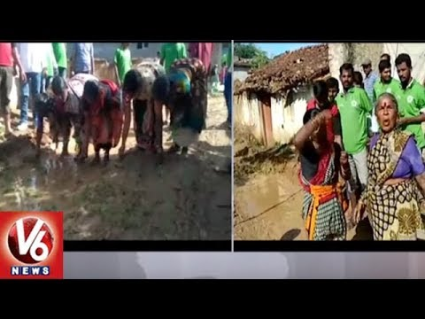 Toopran Villagers Protest Against Govt Officials Over Damaged Roads | Medak District | V6 News