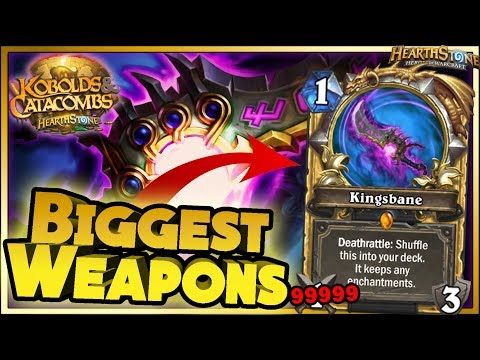 Hearthstone - Biggest Weapons WTF Moments - Kobolds and Catacombs Funny and lucky Rng Moments