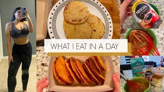 WHAT I EAT IN A DAY ON KETO! | FRIED Almond Flour Tortilla TACOS & TikTok WHIPPED COFFEE!