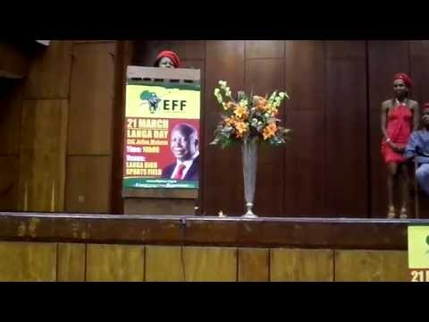 Julius Malema and Floyd at UWC 2015