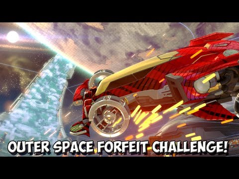 *OMG* Rocket League | INSANE OUTER SPACE FORFEIT CHALLENGE vs FRUITY!
