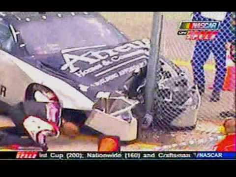 2008 NNS Dayona Thunder Testing Steve Wallace Garage Crash Video