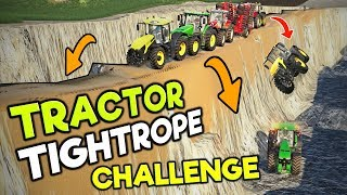 TRACTOR TIGHTROPE CHALLENGE - EACH ROUND THE ROAD CRUMBLES