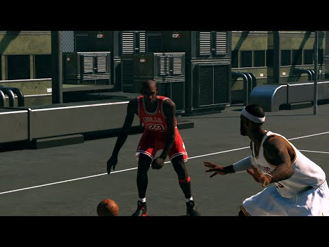 NBA 2K15 - Lebron James vs Michael Jordan 1 on 1 Blacktop | Epic Finish