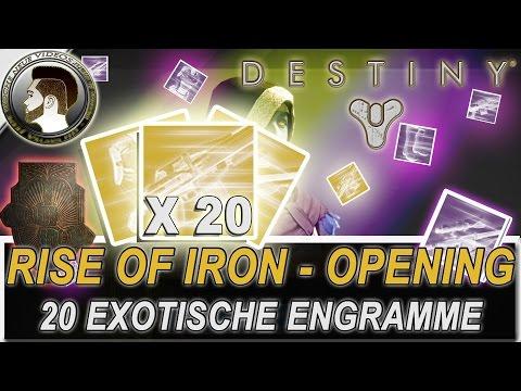 Destiny | 20 EXOTISCHE ENGRAMME OPENING | Rise of Iron - deutsch/HD
