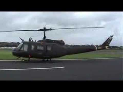 Huey Helicopter taking off at the Ulster Airshow 2007