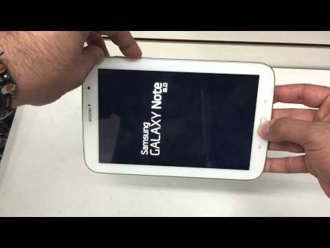How to hard reset The Samsung Galaxy Note 8.0 Android 4.4 Remove Password AT&T