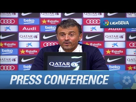 Press Conference Luis Enrique after FC Barcelona (3-0) Elche CF - HD