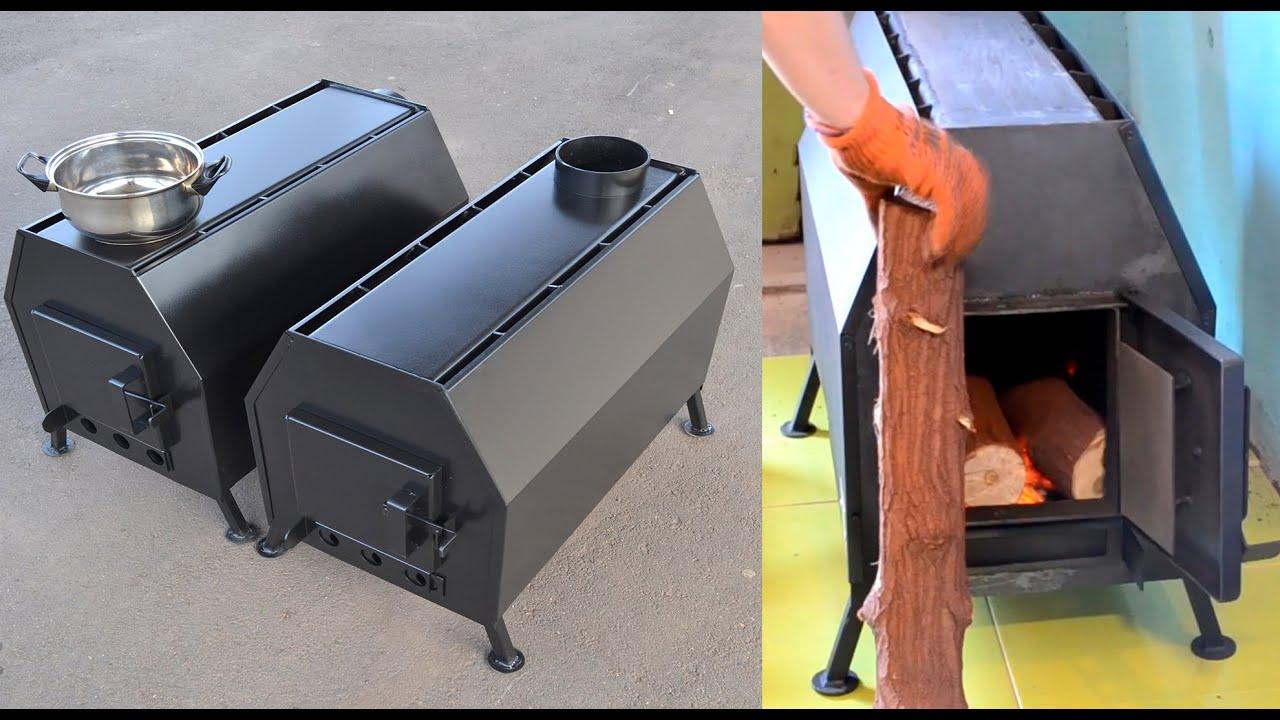 Печи для гаража на дровах длительного горения своими руками