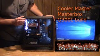 Cooler Master Masterbox Q300L Build guide for 2019,  Ryzen 5 2400, B450m ds3h, XFX 580 8gb